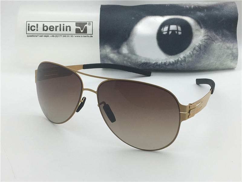 5719c94dc Compre Luxo Alemanha Designer Homens Marca Óculos De Sol IC M0132 Ultra  Light Sem Memória Do Parafuso Da Liga De Metal Removível Aço Inoxidável  Pilotos ...