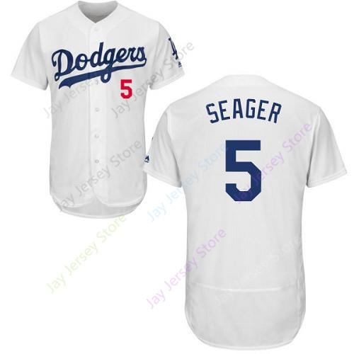 new products d8f6c 430cd Custom Los Angeles 5 Corey Seager Jersey Dodgers Jerseys CoolBase Flexbase  White Black Red Grey Home Away Men Women Youth Cheap All Stitched