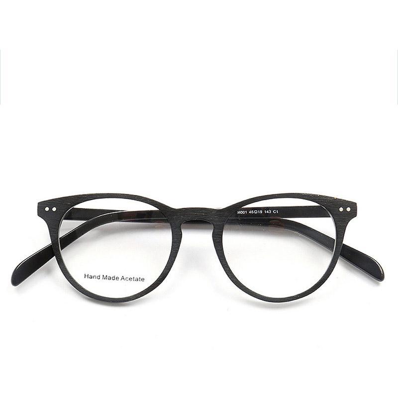 Compre Coyee New New Handmade Olho De Vidro Retro Grãos De Madeira Acetato  Quadro Para As Mulheres Homens Moda Miopia Eyewear Óculos Ópticos Completos  De ... db2e04b2a7