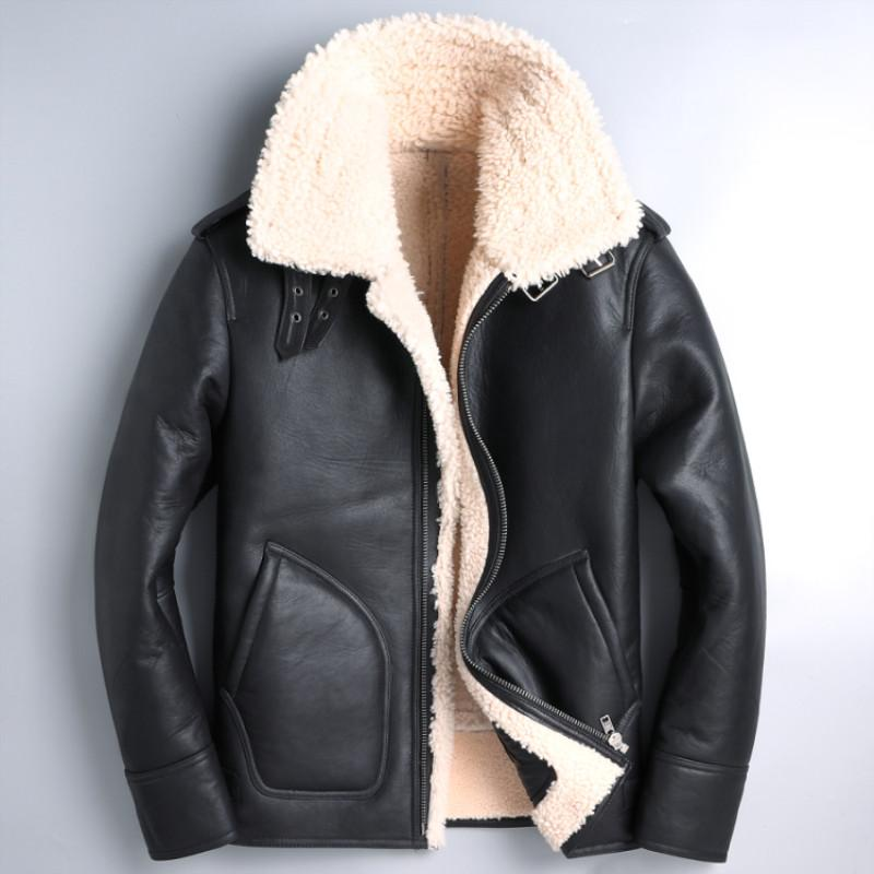 f6d958263 2019 HARLEY DAMSON Black Men B3 Bomber Pilot Leather Jacket Plus Size XXXL  Genuine Thick Warm Russian Aviator Leather Coat From Extend38, $587.37 |  DHgate.