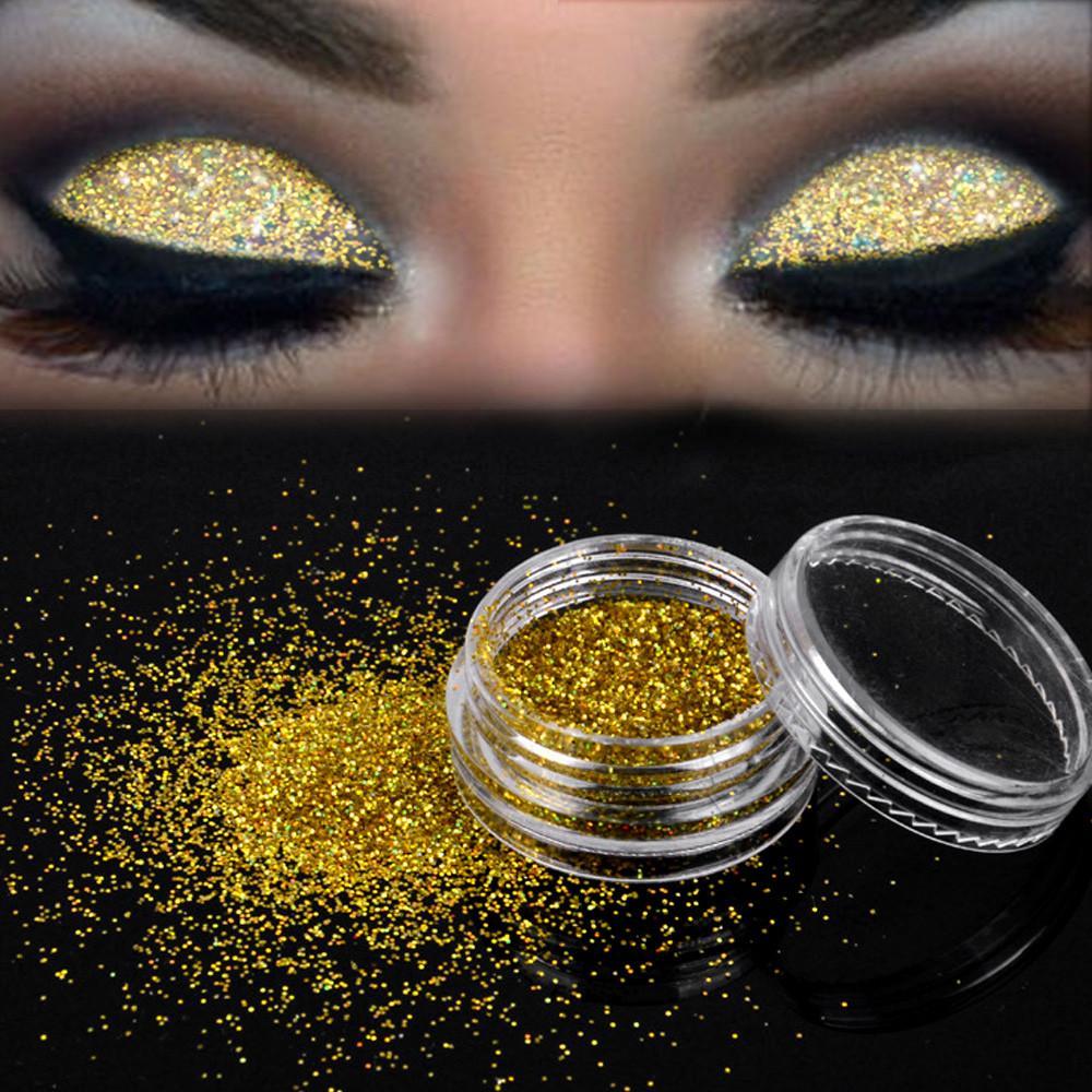 New Hot Eyeshadow Glitter Shiny Makeup Shiny Loose Eyeshadow Gold