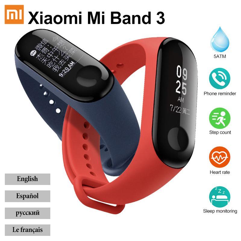 3a162bdd314 Xiaomi Mi Band 3 Smart Wristband Fitness Bracelet Original MiBand ...