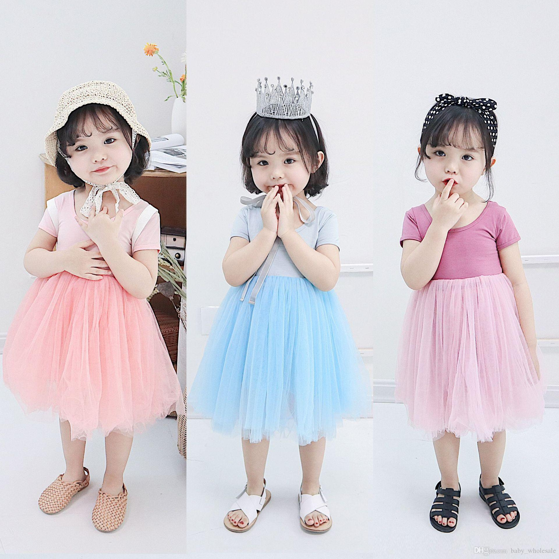 428af51ef252 New Summer Kids Dresses Short-Sleeve Children Tulle Dress ins Hot-selling  Baby Girls' Gauze Dress 1-7Y Tutu Dress