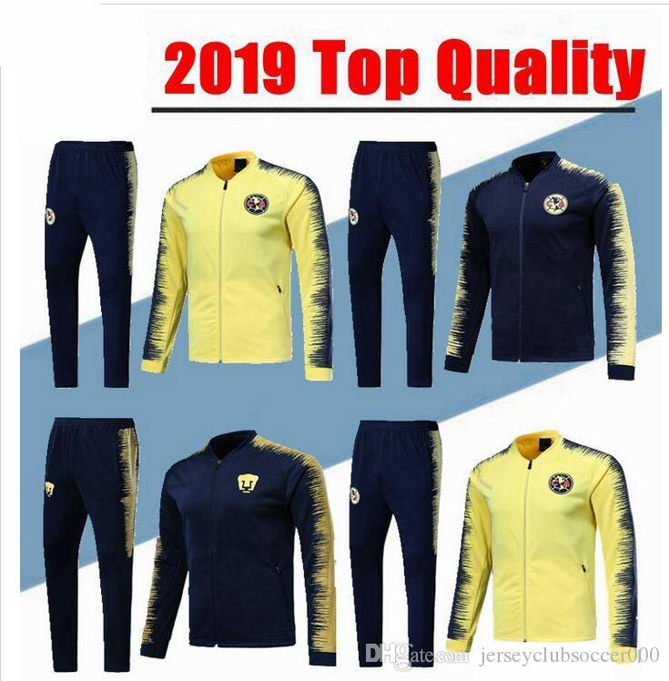 14c3f4932 2019 2018 2019 Mexico Club America Jacket Training Suit 18 19 GUERRON  Football Cougar UNAM Football Jackets Tracksuit Set From  Jerseyclubsoccer000