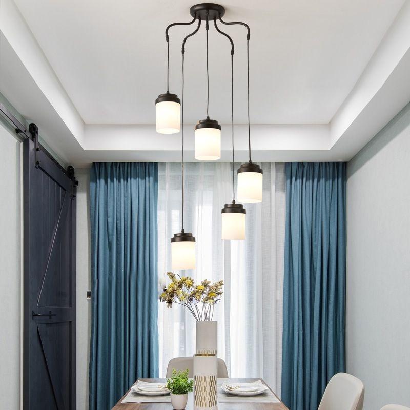 Nordic LED lighting modern living room lamps simple American ceiling lamp  bedroom lamp restaurant hanging chandelier E14 90-260V