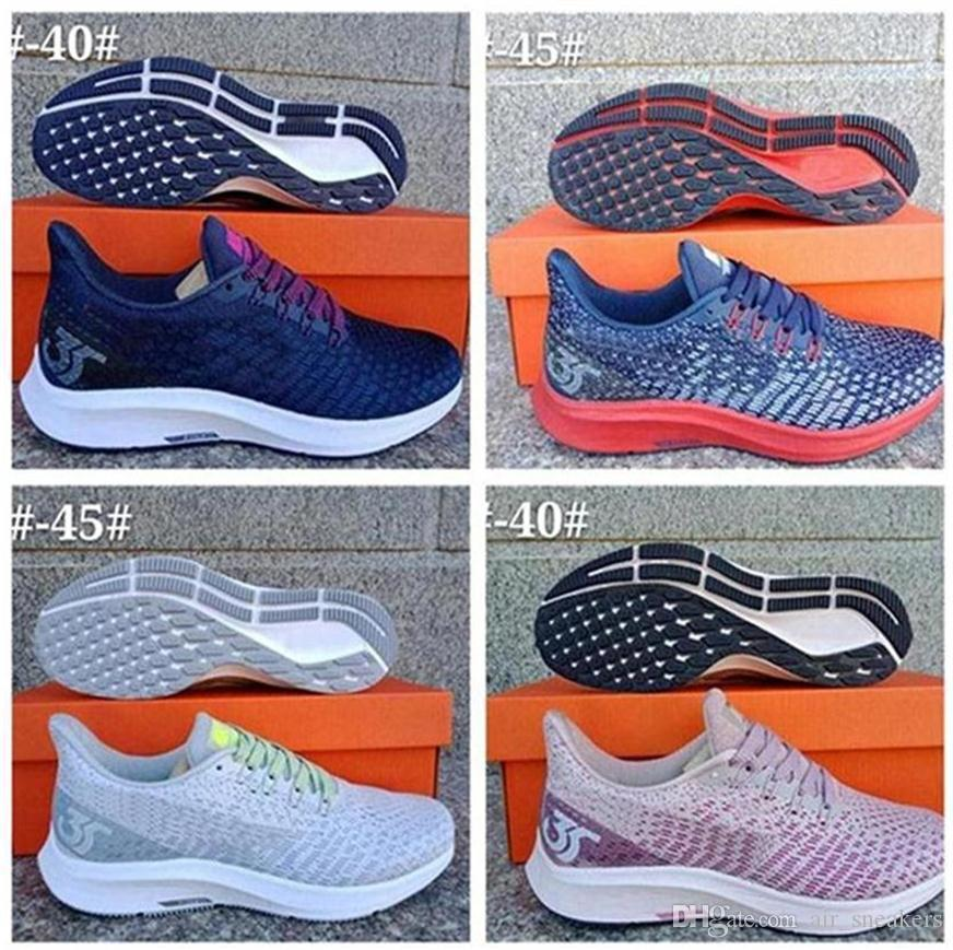 86489c23830 2019 Pegasus 35 turbo fly running shoes mens new air mesh zoomx react  runners womens knit black white pink trainers size 36-45