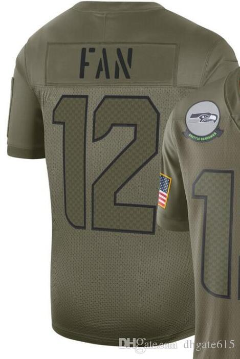 2020 Man Seattle 3 12 Jersey Shirt Embroidery and 100% stitched 2019 Salute to Service Limited Jersey American Football jerseys 01
