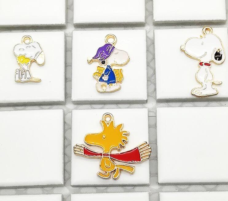 20pcs Cartoon Japan anime dog Enamel Metal Charms Pendants DIY Jewelry Making