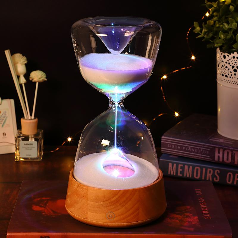 Hourglass 15 Minutes Timer Sand Clock 3 Color Switching Lighting Home Decoration Decor Living Room Hogar Accessories Sld Mz