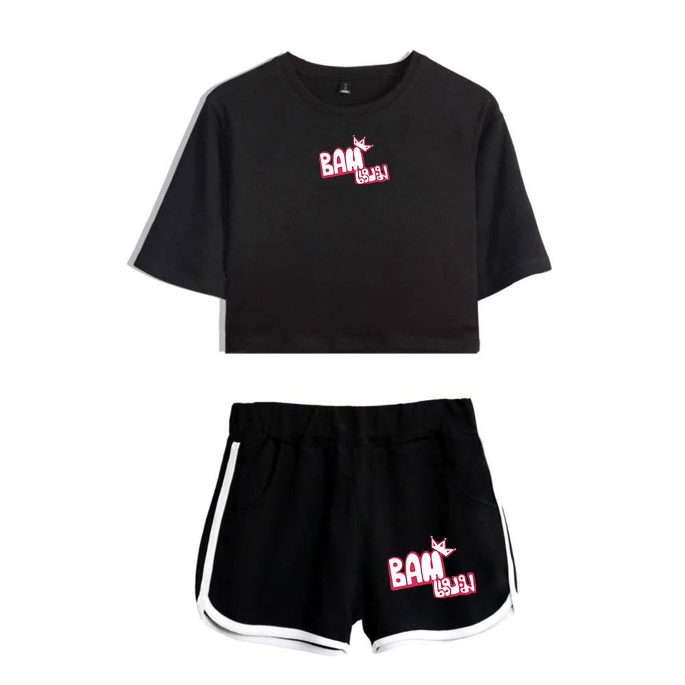 BTS New 2019 GOT7 Real Thai Two Pieces Sets Summer Kpop Women Shorts And  Short Sleeve Clothes 2019 Hot Harajuku Printed Sets