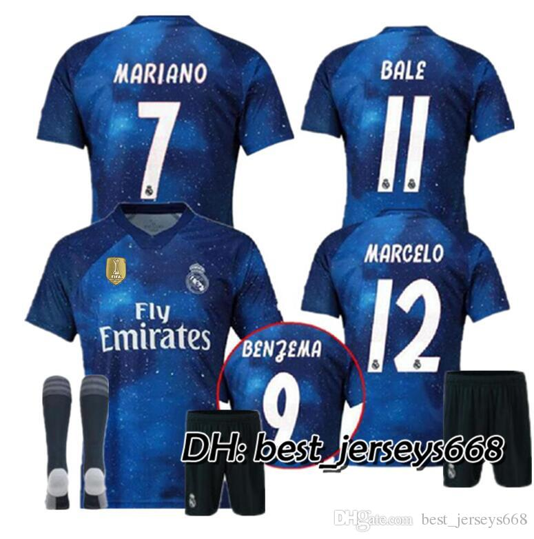 5f5535748fe 2019 ADULT KIT 18 19 Real Madrid EA Sports Digital INSANE SOCCER JERSEYS  2018 2019 MARCELO BENZEMA Special Fourth Outstanding MEN Football Shirts  From ...
