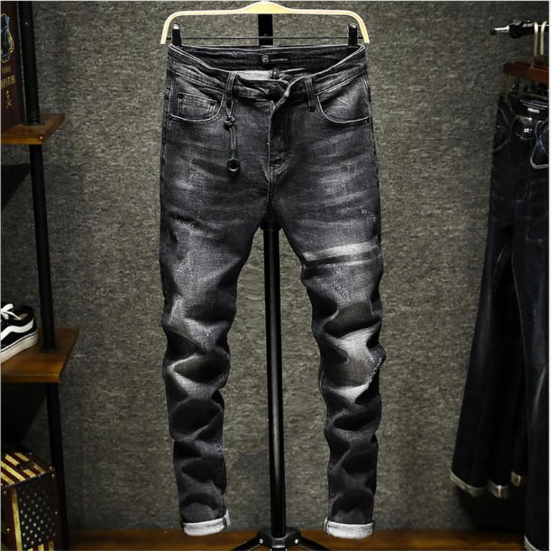 best service ec459 949bc I jeans degli uomini di marca italiana nuova moda maschile di alta qualità  di design jeans classici pantaloni di marca di lusso jeans moda uomo A2