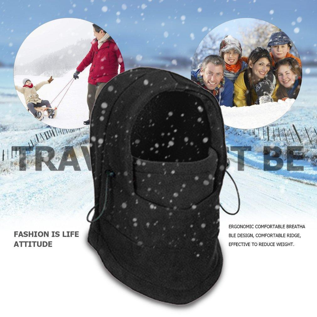 2100c8855b4 Winter Cycling Windproof Warm Fleece Hat Full Face Mask Double Layer ...