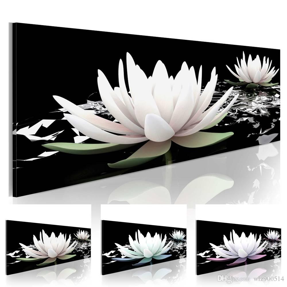 2019 Lotus Flower Abstract Oil Painting On Canvas Home Decor Wall