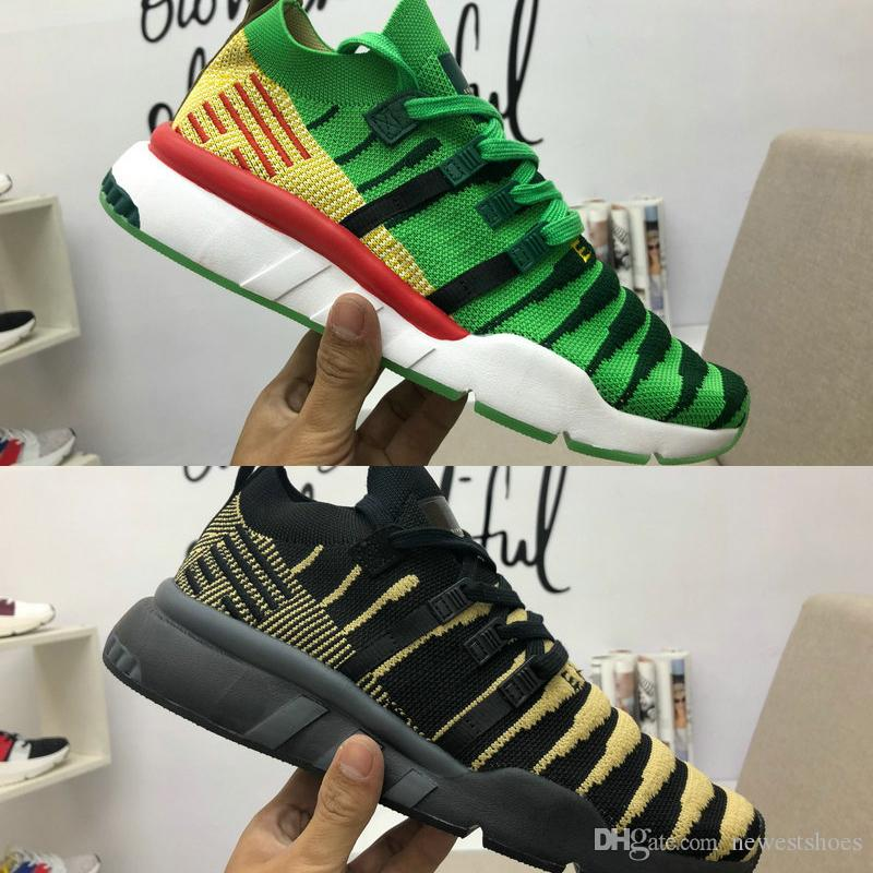 Original Limited Collaboration Dragon Ball EQT Support Mid ADV PK Shenron  Men Women Runnning Shoes Green Chinese Black JAPAN Sports Sneakers Shoes  Sports ... 36517b3fc