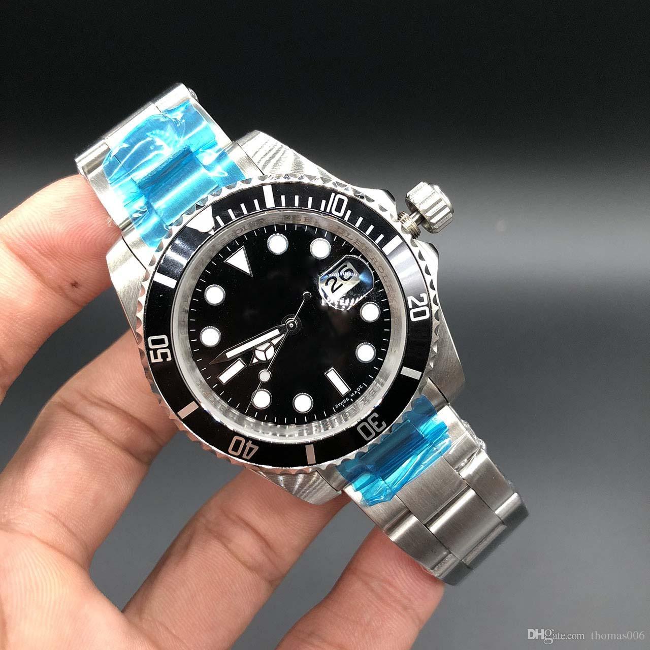 6f689ebadbfe Compre Barato Reloj De Lujo Al Por Mayor Modelo Antiguo 16610 Hombres  Automático AAA Zafiro Correa Original Inoxidable Dial Negro Relojes Para  Hombre Reloj ...