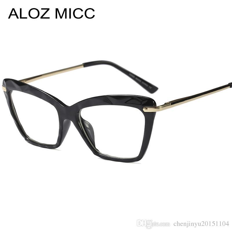 783129312f7 2019 ALOZ MICC Vintage Women Cat Eye Glasses Frame 2019 New High Quality  Optical Glasses Men Metal Eyewear Frame A657 From Chenjinyu20151104