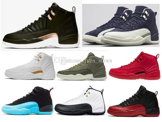 sneakers for cheap 81c2d 622f8 High Quality 12s Midnight Black Gym Red Flu Game Men Basketball Shoes 12  Gamma Blue Chris Paul Class Of 2003 Sneakers With Box Cheap Sneakers  Basketball ...