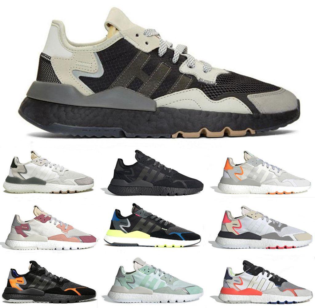 2019 Core Black nite jogger 3M réfléchissant chaussures de course de nuit pour hommes femmes top qualité triple blanc respirant formateur baskets de