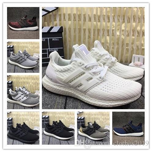 2e880d745 Men Women Hot Ultra Boost 4.0 3.0 Running Shoes Core Triple Black ...