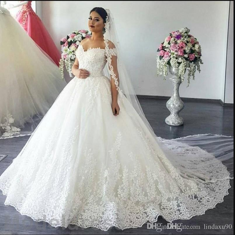 2019 Wedding Gown Design: Discount 2019 Elegant Lace A Line Wedding Dresses Off The
