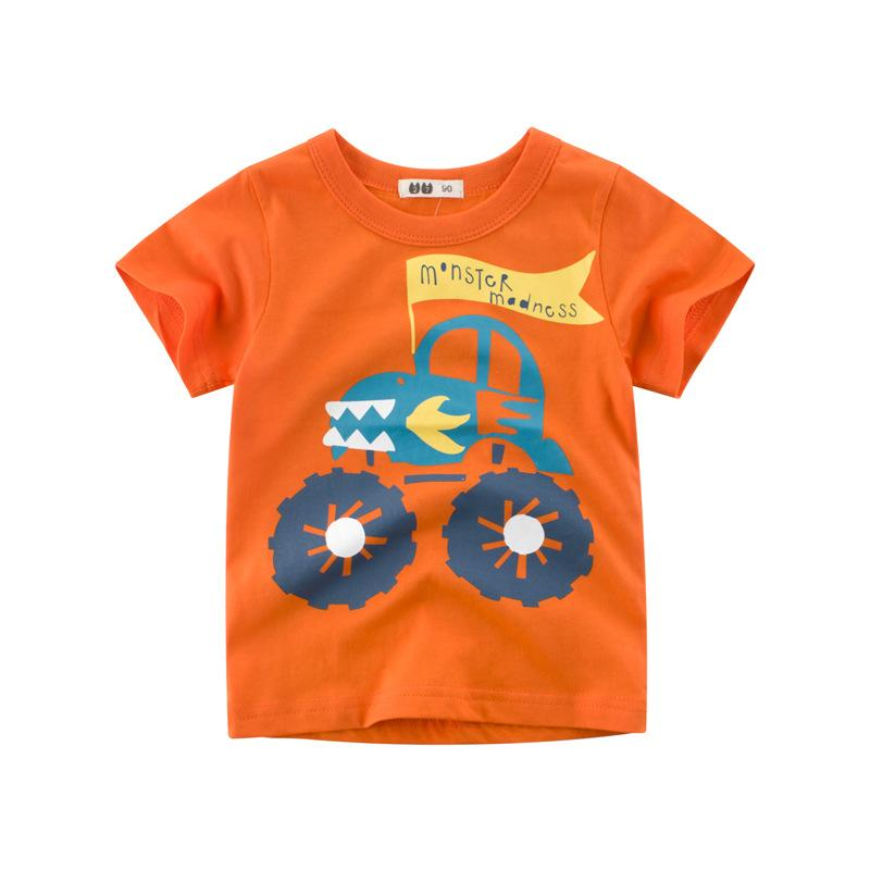 ad6017479116 Summer Children T Shirts Cotton Short Sleeve Kids T-shirt Printed ...