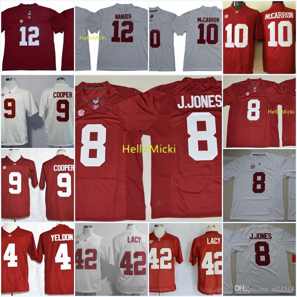 online retailer 24502 555cc Mens Alabama Crimson Tide Eddie Lacy Jersey TJ. Yeldon Amari Cooper AJ  McCarron Joe Namath Julio Jones Minkah Fitzpatrick Alabama Jersey