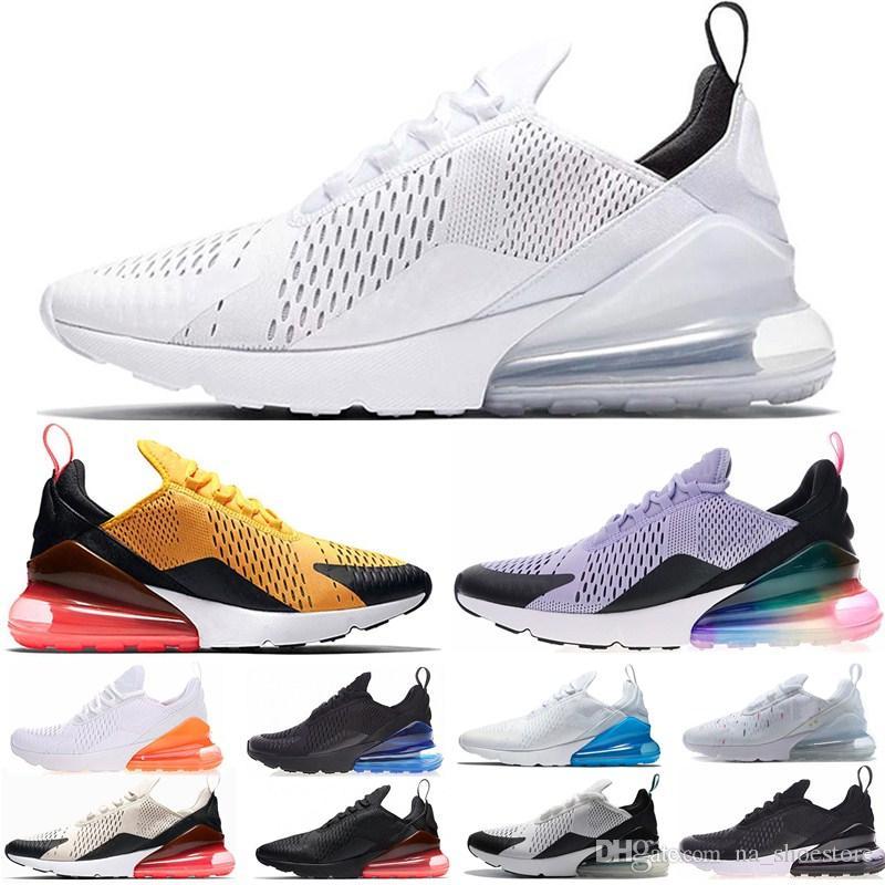 c61b8726f73 Acheter 2019 Nike Air Max 270 Airmax 270 Air 270 Nouveautés Chaussures  Hommes Noir Triple Coussin Blanc Femmes Baskets Mode Athlétisme Baskets  Chaussures De ...