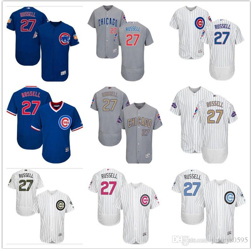 9b28ec224 ... authentic green salute to service mlb jersey 0090d 69cde; shop 2018  2019 custom mens women youth majestic chicago cubs jersey 27 addison russell  home ...