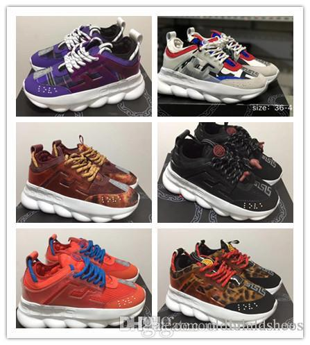 445764b1f New Colors Chain Reaction Sneaker Trainers Mens Women Sneaker Light Weight  Chain Linked Rubber Sole Luxury Brand Designer Fashion Shoes Online with ...