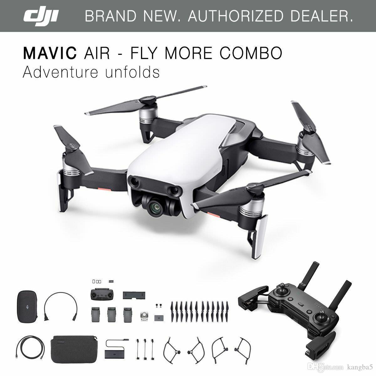 2019 DJI Mavic Air Arctic White Drone Fly More COMBO 4K ...
