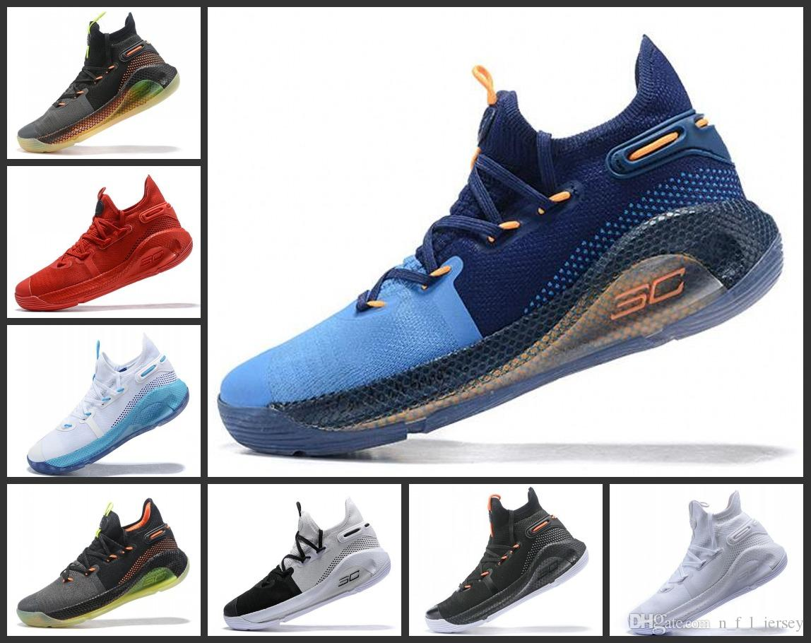 5f8b901b3e2 Curry 6 Woman Basketball Shoes New Green Red Rage Christmas Blue Stephen  Currys vi Sports Sneakers Boots