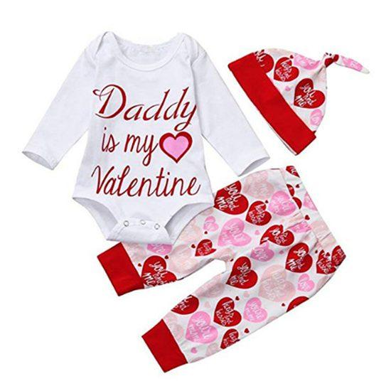 2019 Spring Baby Girl Valentines Day Outfits Little Girls Clothing