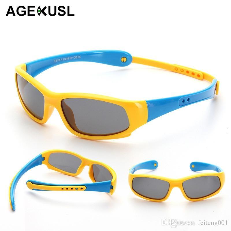 c1562284965c 2019 AGEKUSL Silicone Sports Kids Boy Girl Sunglasses Polarized Foldable Cycling  Bike Bicycle Sun Glasses Eyewear UV400 Protection #537301 From Feiteng001,  ...