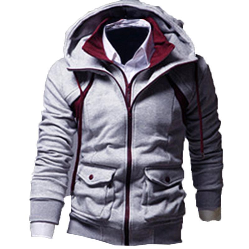Winter Männer Sweatshirts Mit Kapuze Reißverschluss Männer Hoodie Jacken Fleece Workout Trainingsanzüge Mode Fitness Lässig Männliche Oberbekleidung