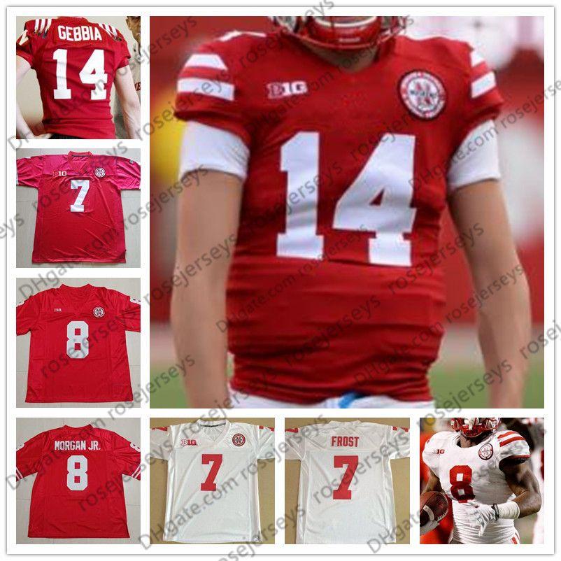 new concept 9f3ef 66fc8 Huskers Nebraska Cornhuskers #13 Tanner Lee 14 Tristan Gebbia 18 Tre Bryant  21 Mikale Wilbon 22 Devine Ozigbo Football Red White Jersey 4XL
