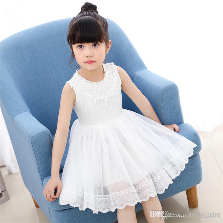 2019 2018 New Baby S Skirt Girls Dresses Summer Children S Korean Mesh  Princess Dress Female Baby Stitching Beaded Knit Children S From Lucky god 270f1974d2be