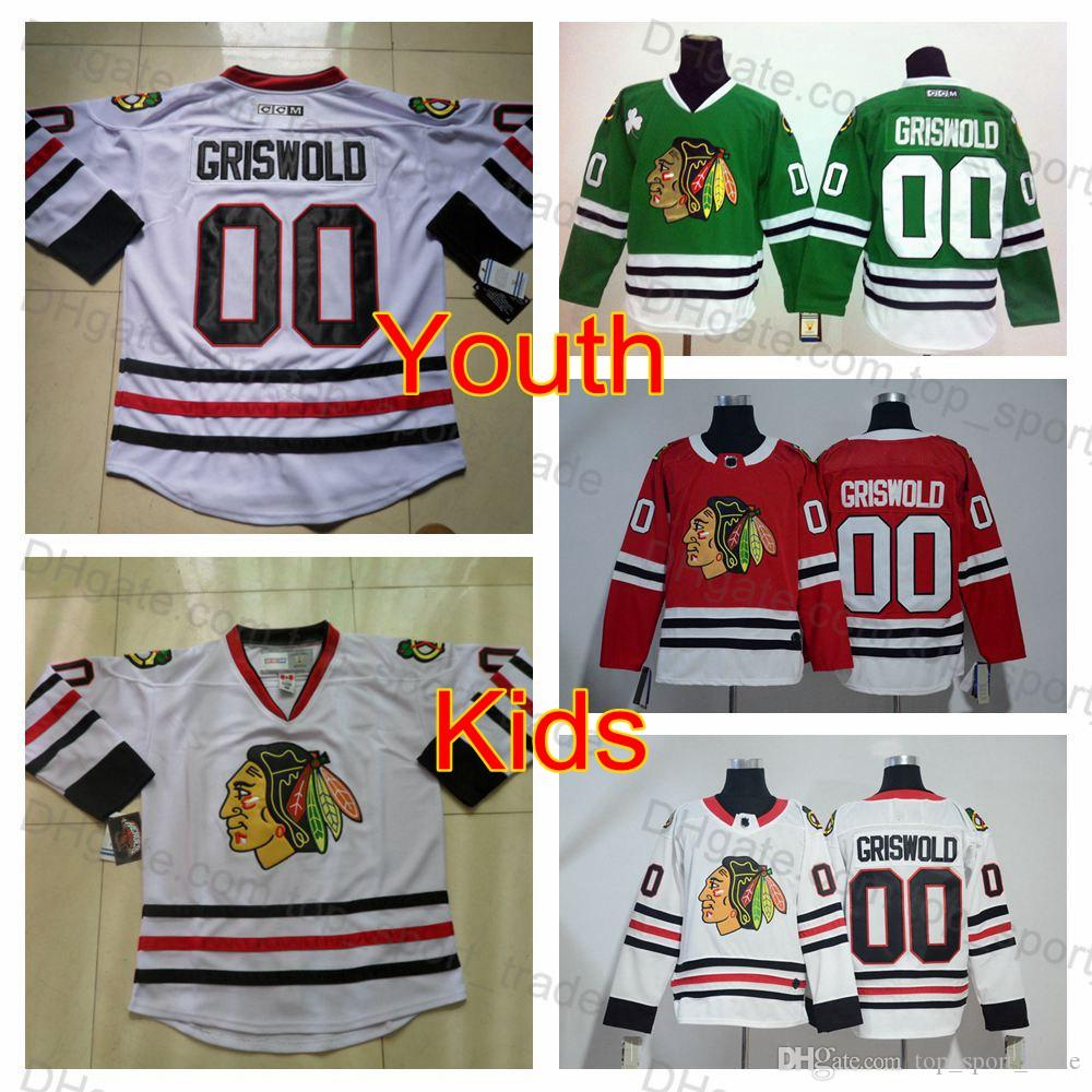 best website dd626 c33fc 2019 Youth Vintage 00 Clark Griswold Jersey Kids Chicago Blackhawks Hockey  Jersey Boys White CCM Moive National Lampoon s Christmas Vacation