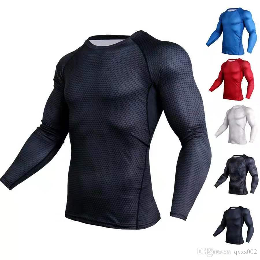 New MMA3D Printed T-Shirts Männer Compression Hemd thermische lange Hülse T Shirt der Männer Fitness Bodybuilding Skin Tight Quick Dry