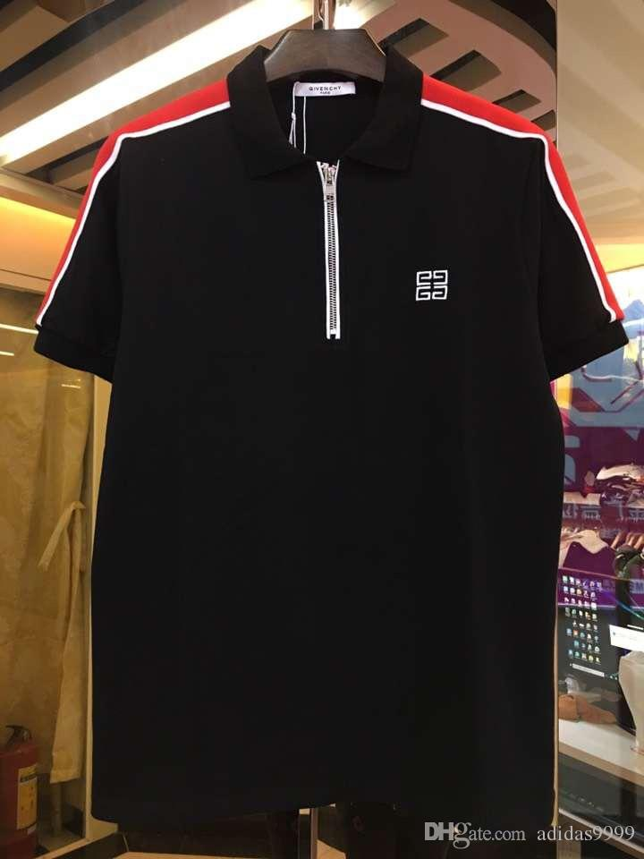 3edf12772 Compre 2019 Novo FC Marca T Shirt Camisas Polo Moda Clássico De Manga Curta Camisa  Polo Casual Cobra Abelha Floral Bordado Mens Polos Camisa M 3XL De ...