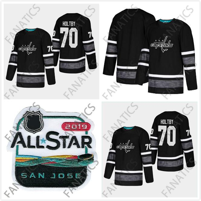 newest 7f79b 7c527 Cheap 2019 All Star Jersey Washington Capitals Men 70 Braden Holtby Mens  Black Blank Top Quality 2019 All-Star Patch Hockey Jersey