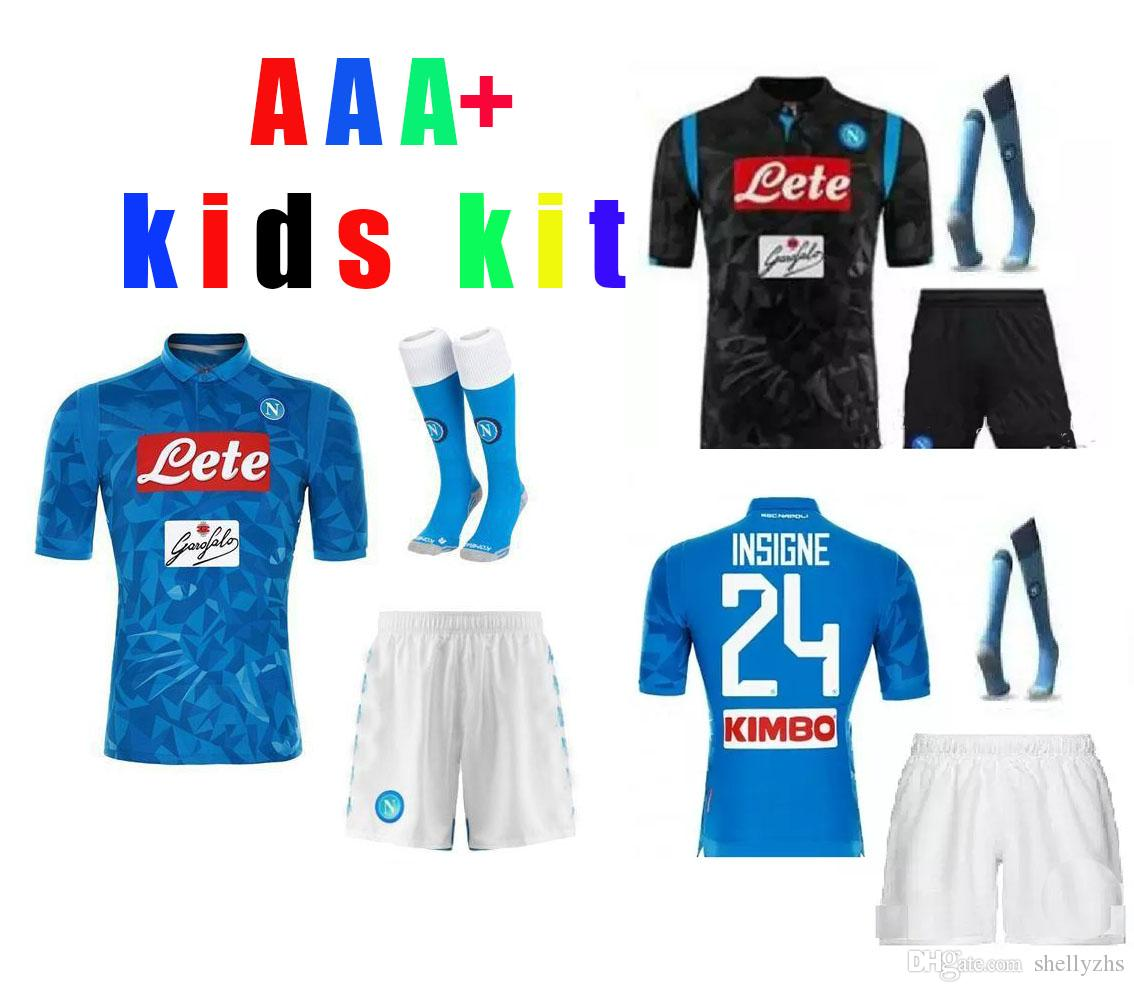 3fe2c7574fd01 2019 Kids Kits 2018 NAPOLI NAPLES MARADONA HAMSIK MILIK CAMISETA DE FUTBOL  Soccer Uniform Kits Soccer Jerseys Thailand Quality Football Shirts Ki From  ...