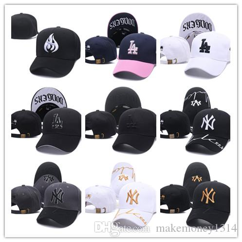 74055d7fc98 2019 2019 New Hot Cotton Embroidery Letter Ny Baseball Cap Snapback Bone  Casquette Hat Distressed Wearing Style Hat For Men Women From  Makemoney1314
