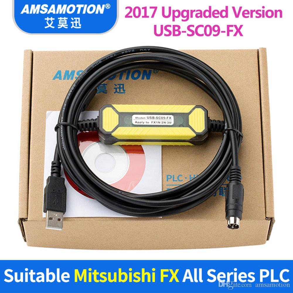 2019 Usb Sc09 Fx Cable Suitable Mitsubishi Plc Programming Fx0n Fx1n Fx2n Fx0s Fx1s Fx3u Fx3g Series Communication From Amsamotion