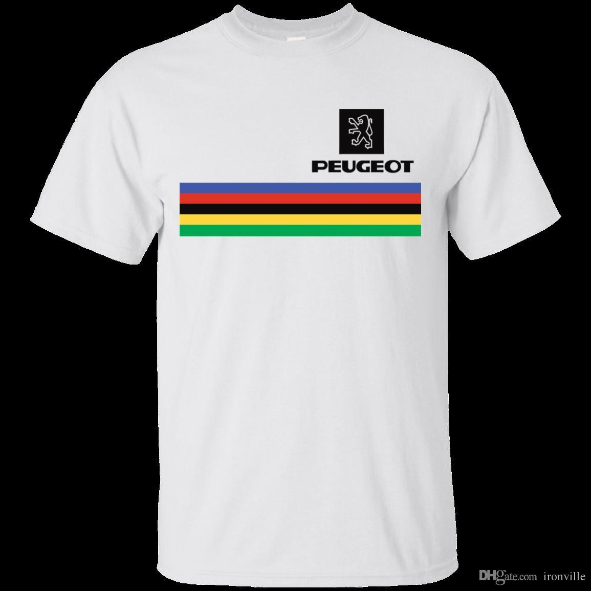 Peugeot, Bicycle, Retro, Tom Buy, Bike, Tour de France, Race, T-Shirt  Casual T-Shirt Male Short Sleeve Pattern High Quality Men T Shirts
