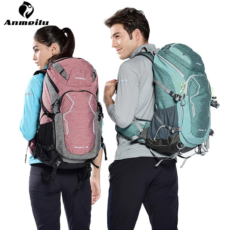 79d23b0f5bf2 Anmeilu 50L Outdoor Hiking Backpacks Rain Cover Nylon Waterproof Sport Bag  Breathable Travel Camping Climbing Backpack Rucksack