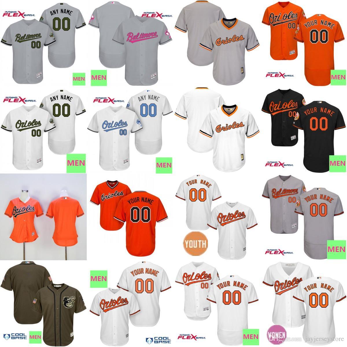 Custom Baltimore Orioles Jersey Villar Mullins Wilkerson Sisco ... 2484491cf