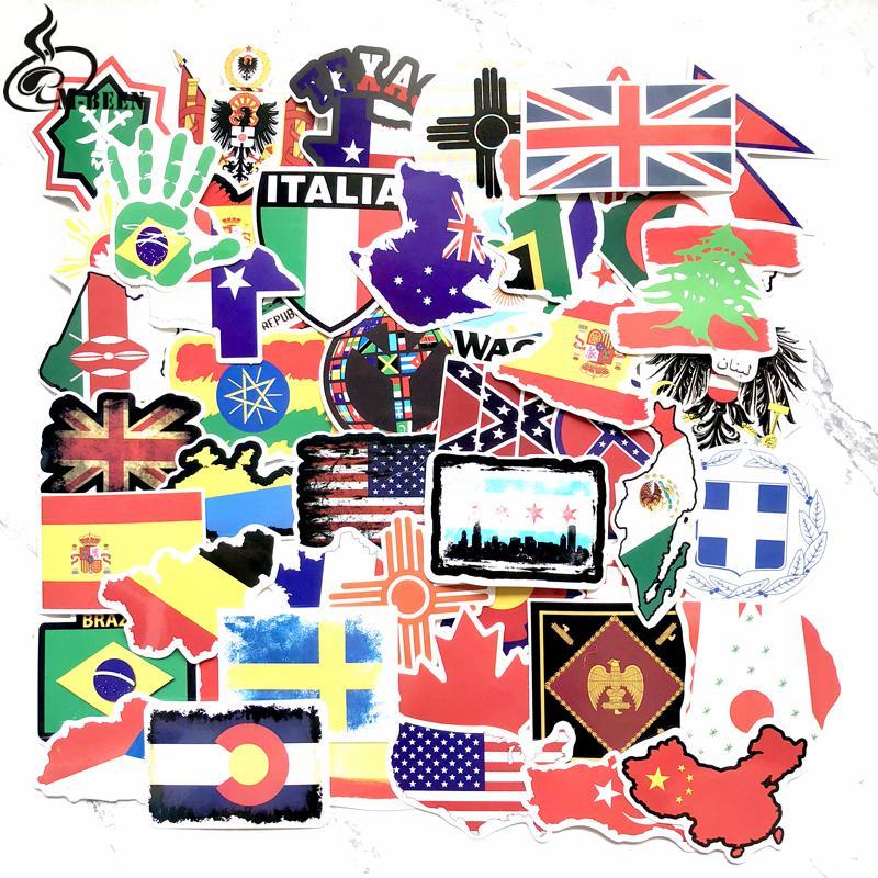 50 Pays Diy Ordinateur Nationaux Pour Portable À Carte Drapeaux Voyage Pcs Enfants Autocollants De Autocollant Scrapbooking Valise Voiture Jouets CdQerxBoW