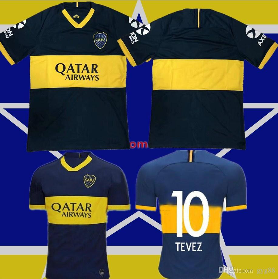 the latest b6c73 18b26 Thailand 2019 2020 Boca Juniors Soccer Jerseys 19 20 GAGO TEVEZ CARDONA  BENEDETTO Football shirt Boca Junior PAVON camisetas de futbol