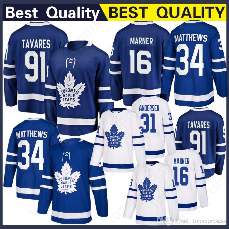 reputable site ed69e 1466f 91 John Tavares Jersey Toronto Maple Leafs 16 Mitch Marner 34 Auston  Matthews WOMEN YOUTH Men Embroidery Hockey Jerseys